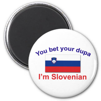Slovenian Dupa (Flag) 2 Inch Round Magnet