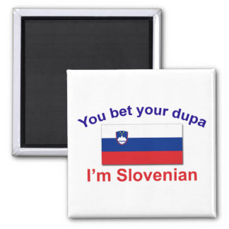 Slovenian Dupa (Flag) 2 Inch Square Magnet
