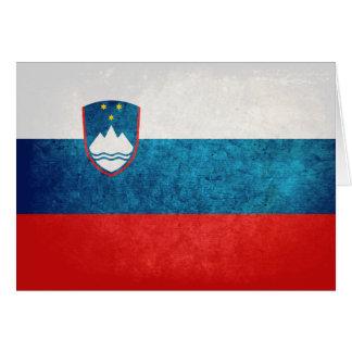 Slovenian Flag Card