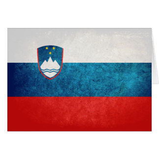 Slovenian Flag Greeting Card