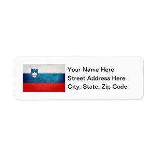 Slovenian Flag Return Address Label
