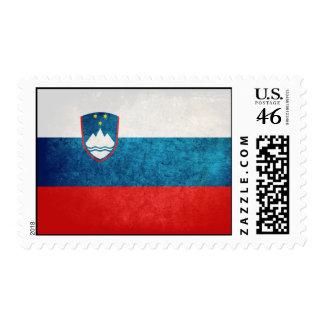 Slovenian Flag Postage Stamp