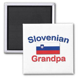 Slovenian Grandpa 2 Inch Square Magnet