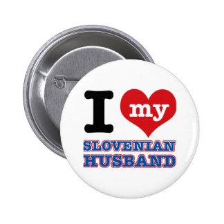 Slovenian I heart designs 2 Inch Round Button