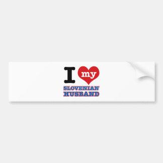 Slovenian I heart designs Car Bumper Sticker