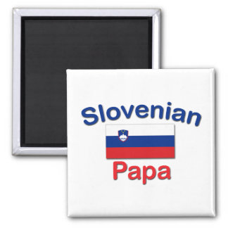 Slovenian Papa 2 Inch Square Magnet