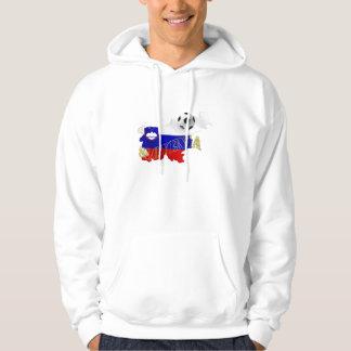 Slovenian Soccer flag Map of Slovenia Hooded Sweatshirts
