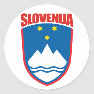 Slovenija (Eslovenia) Pegatina Redonda