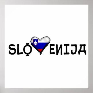 Slovenija love heart of Slovenia gifts Poster