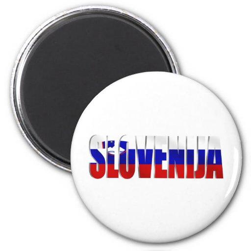 Slovenija redactó el logotipo de la bandera de los iman para frigorífico