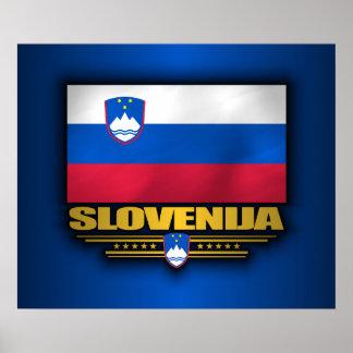 Slovenija (Slovenia) Flag Poster