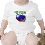 Slovenija Slovenia futbal Nogomet soccer ball Baby Bodysuit