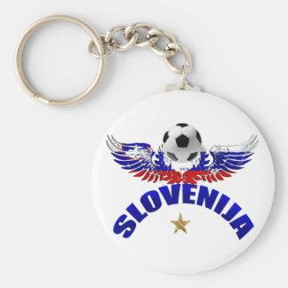 Slovenija soccer man Slovenia flag art graphic Keychain