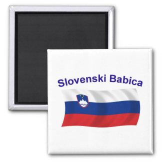 Slovenski Babica (Grandma) 2 Inch Square Magnet