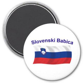 Slovenski Babica (Grandma) 3 Inch Round Magnet