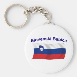 Slovenski Babica (Grandma) Basic Round Button Keychain