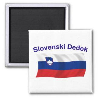 Slovenski Dedek (Grandpa) 2 Inch Square Magnet