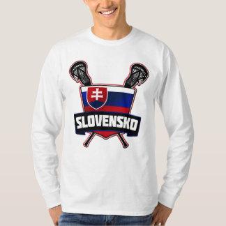 Slovensko Slovakia Lacrosse Tee