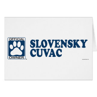 SLOVENSKY CUVAC_blue Greeting Cards