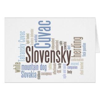 Slovensky Cuvac Greeting Card