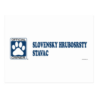 SLOVENSKY HRUBOSRSTY STAVAC_Blue Post Cards
