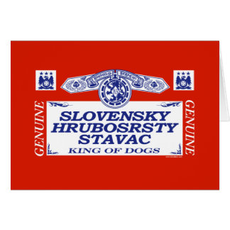 Slovensky Hrubosrsty Stavac Greeting Cards