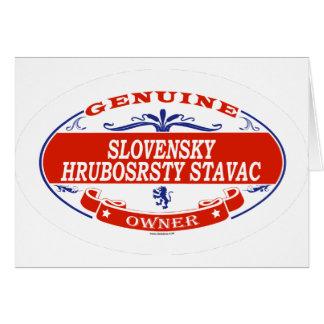 SLOVENSKY HRUBOSRSTY STAVAC_ CARDS