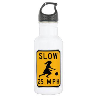 Slow 25 MPH, Traffic Warning Signs, USA 18oz Water Bottle