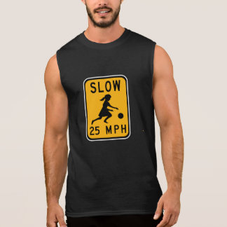 Slow 25 MPH, Traffic Warning Signs, USA Sleeveless Shirt