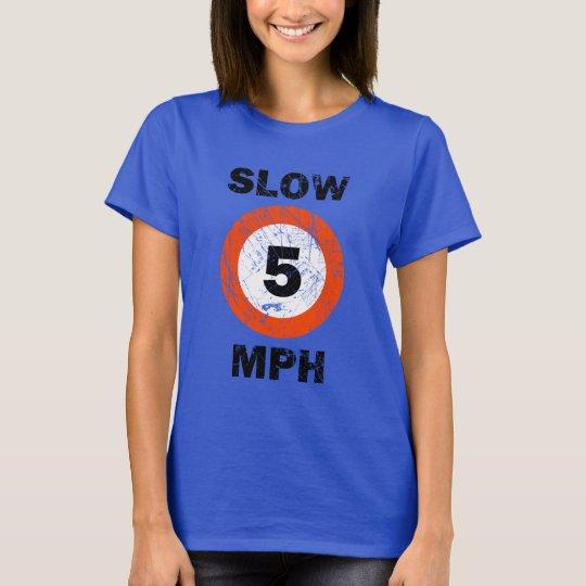 SLOW 5 MPH Nautical Grunge Style T-Shirt