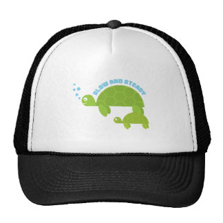 Slow and Steady Trucker Hats