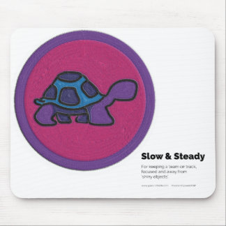 Slow and Steady Merit Badge Mouse Pad