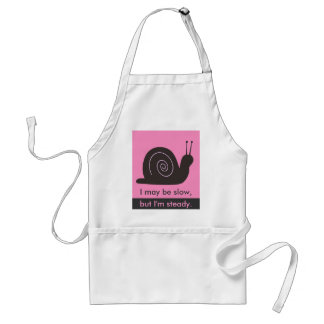 Slow and Steady snail Adult Apron