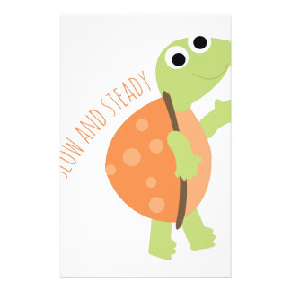 Slow And Steady Customized Stationery