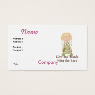Slow and Steady Wins Race Business Card