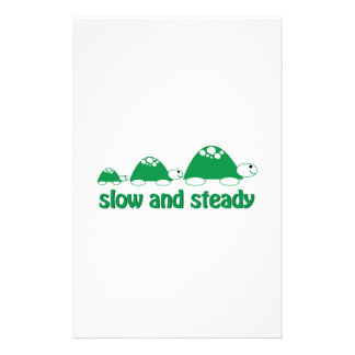 Slow and Stready Customized Stationery