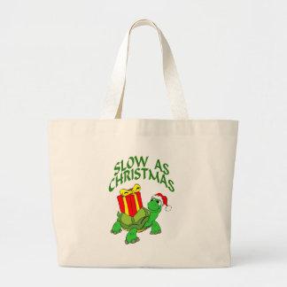 Slow As Christmas Large Tote Bag