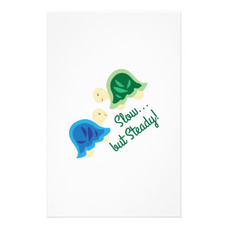 Slow But Steady Personalized Stationery