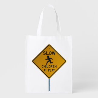 SLOW CHILDREN AT PLAY GROCERY BAGS