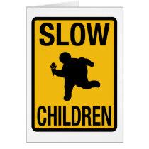 Slow Children Street Sign