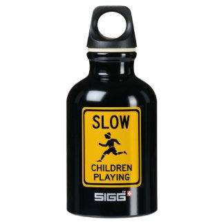 Slow - Children Playing, Traffic Warning Sign, USA SIGG Traveler 0.3L Water Bottle