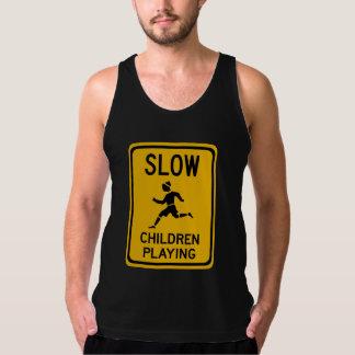 Slow - Children Playing, Traffic Warning Sign, USA Tank Top