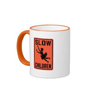 Slow Children, Traffic Warning Sign, USA Ringer Coffee Mug