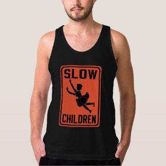 Slow Children, Traffic Warning Sign, USA Tank Top