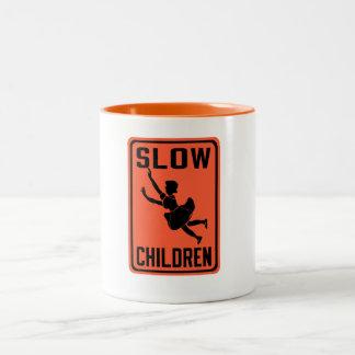 Slow Children, Traffic Warning Sign, USA Two-Tone Coffee Mug