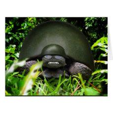 Slow Commando - Army Turtle Card