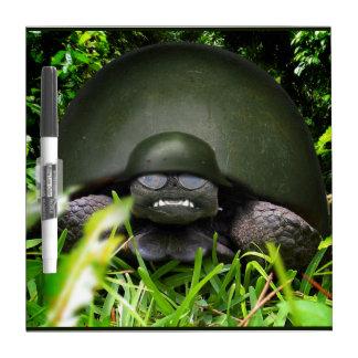 Slow Commando - Army Turtle Dry-Erase Boards