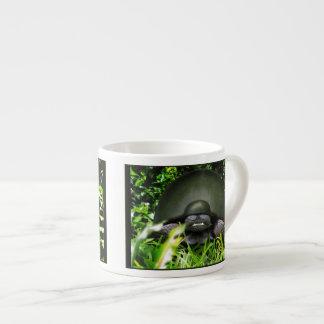 Slow Commando - Army Turtle 6 Oz Ceramic Espresso Cup