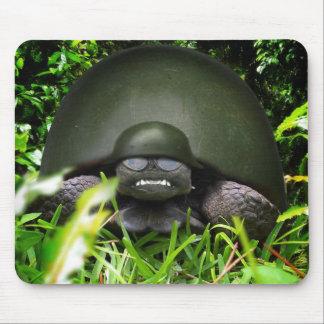 Slow Commando - Military Helmet Turtle Mouse Pad