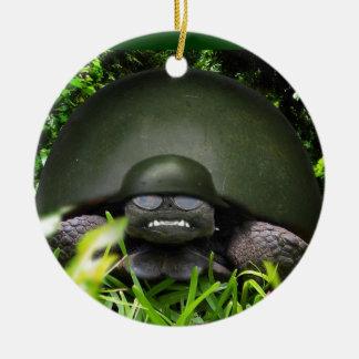 slow commando Double-Sided ceramic round christmas ornament